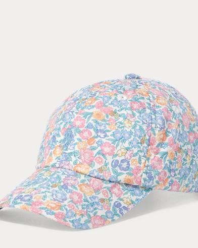 Floral Poplin Baseball Cap