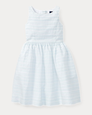Ribbon Striped Cotton Dress
