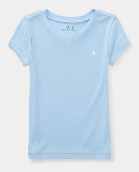 Cotton-Blend V-Neck T-Shirt