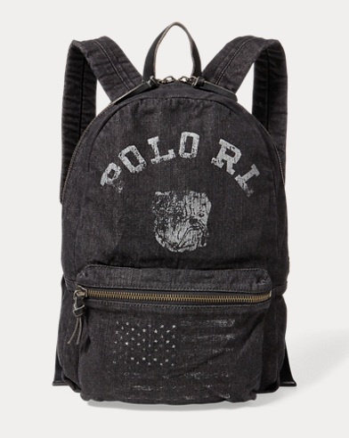 Bulldog Denim Backpack