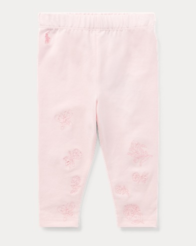 Embroidered Jersey Legging
