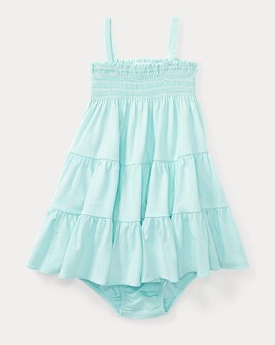 Smocked Jersey Dress & Bloomer