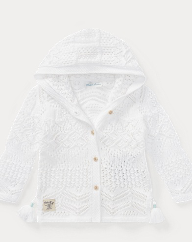 Pointelle-Knit Cotton Cardigan
