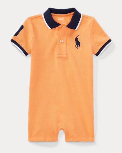 Cotton Mesh Polo Shortall