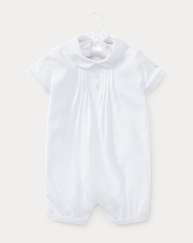 Pintucked Cotton Shortall