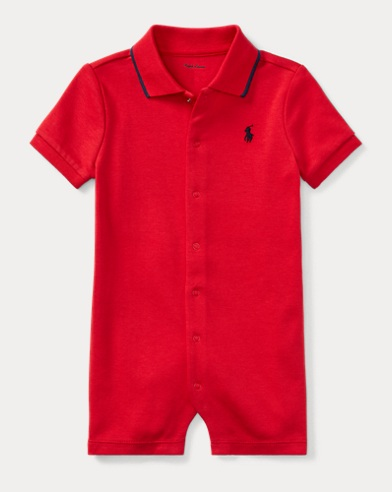 Cotton Interlock Polo Shortall