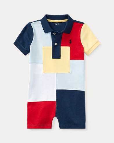 Patchwork Cotton Shortall