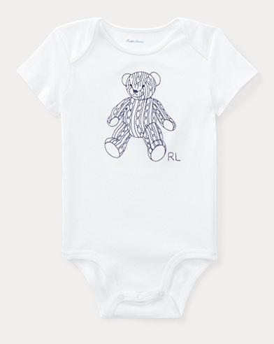 Bear Cotton Interlock Bodysuit