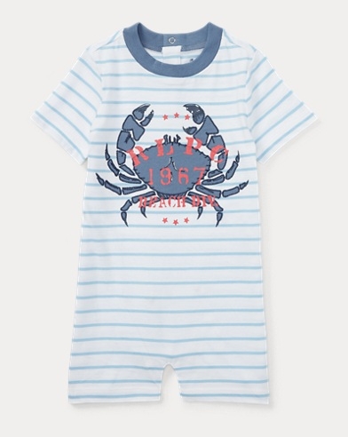Cotton Jersey Graphic Shortall