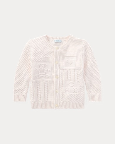 Contrast-Knit Cotton Cardigan