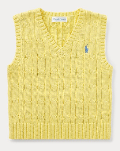 Cable-Knit Cotton Vest