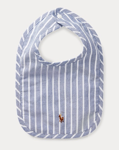 Striped Cotton Oxford Bib