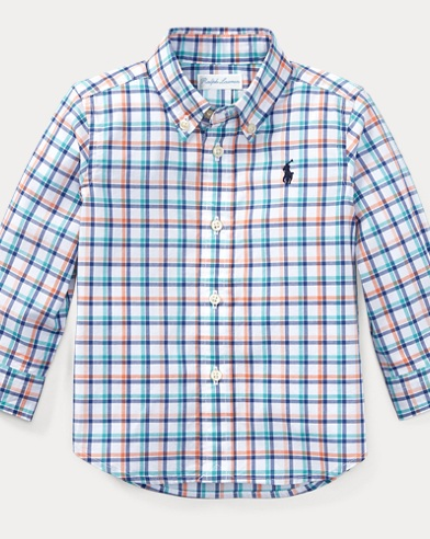 Plaid Stretch Cotton Shirt