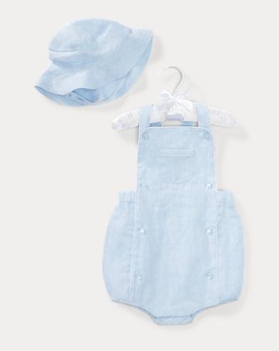 Linen Shortall & Hat Set