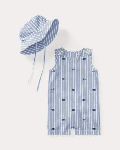 Cotton Shortall & Hat Set