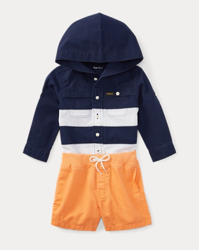 Hooded Shirt & Short Set
