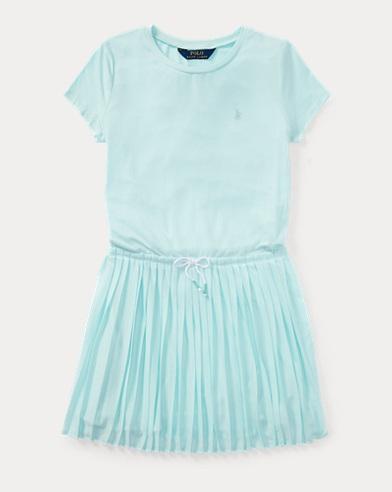 Pleated Jersey T-Shirt Dress