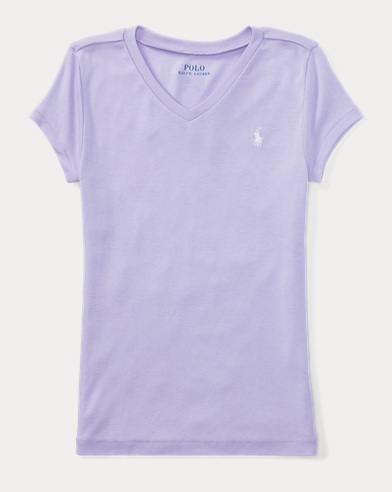 Cotton-Blend V-Neck T-Shirt