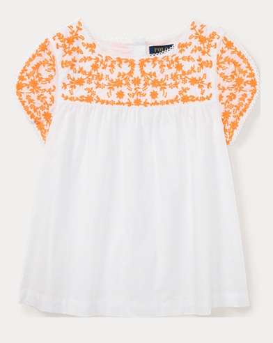Embroidered Cotton Poplin Top