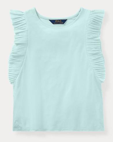 Flutter-Sleeve Jersey Top