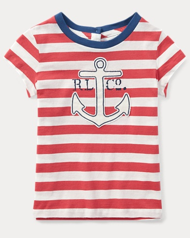 Striped Jersey Graphic T-Shirt