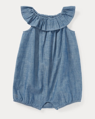 Cotton Chambray Bubble Romper