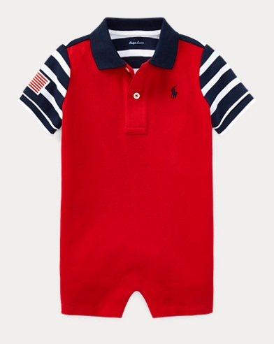 Americana Cotton Polo Shortall