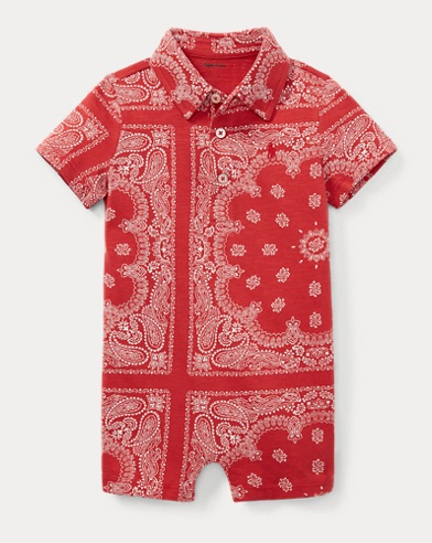 Bandanna-Print Cotton Shortall