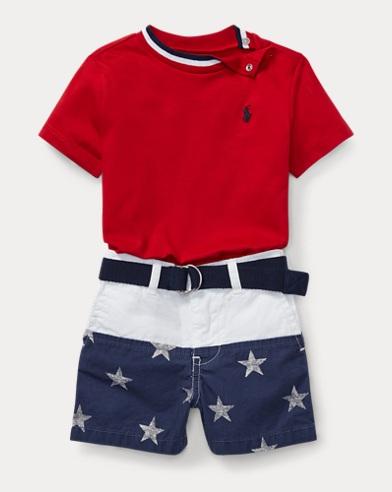 T-Shirt, Belt & Short Set