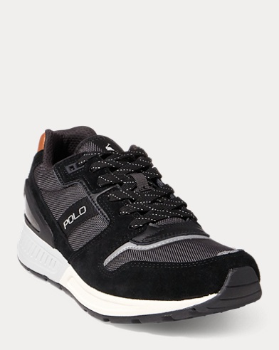 Train 100 Suede-Mesh Sneaker