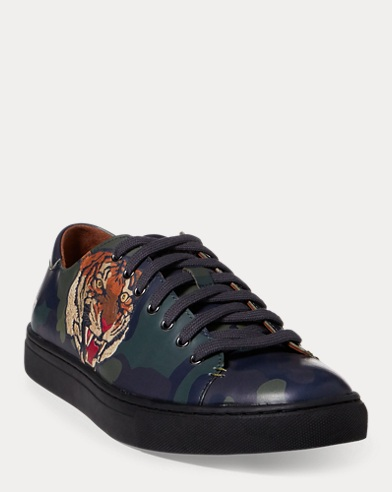 Jermain Tiger Calfskin Sneaker