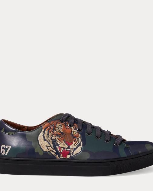 Jermain Tiger Calfskin Sneaker by Ralph Lauren