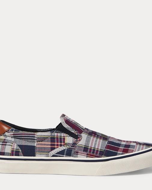 Thompson Madras Sneaker by Ralph Lauren