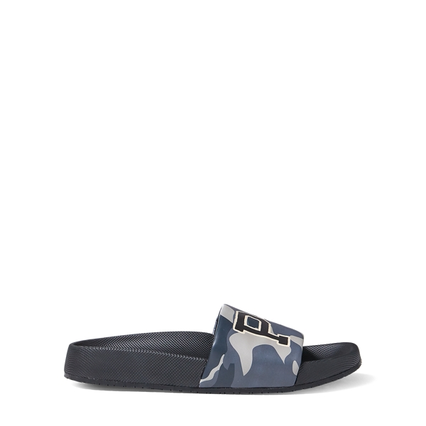 Ralph Lauren Cayson Camo Pool Slide Sandal Black Camo 13
