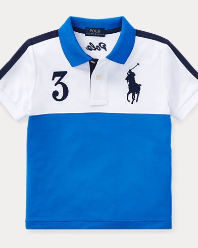 Color-Blocked Tech Mesh Polo