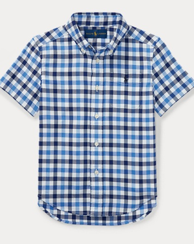 Plaid Performance Oxford Shirt