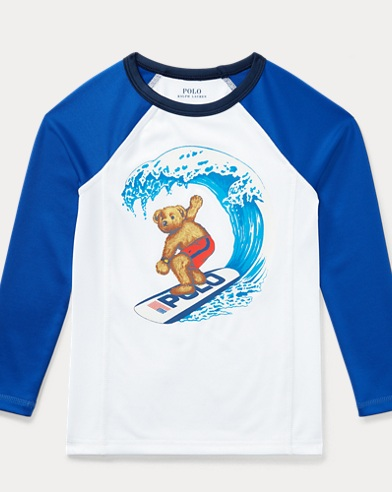 Surfing Polo Bear Rash Guard