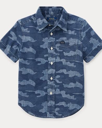 Camo Cotton Chambray Shirt