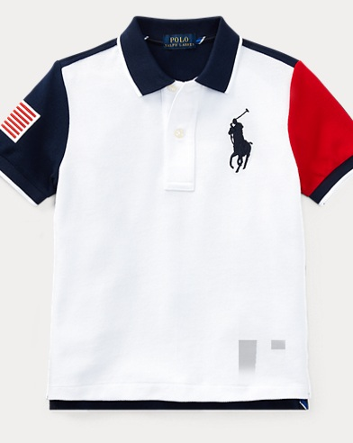 Color-Blocked Cotton Mesh Polo
