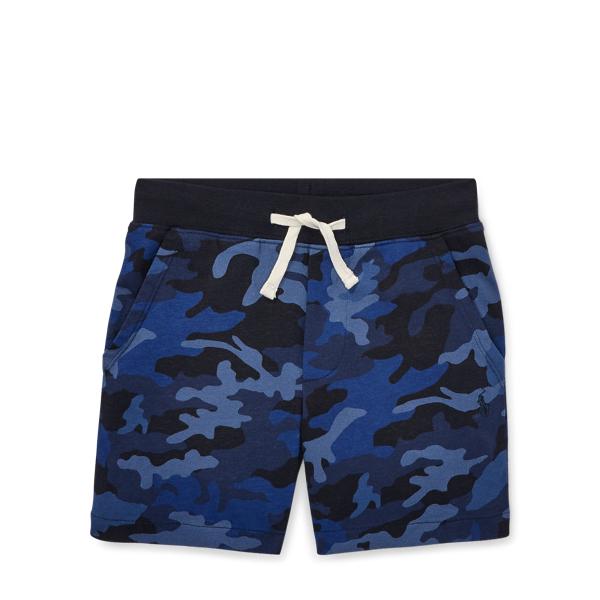 Ralph Lauren Camo Cotton Jersey Short Blue Camo 2T