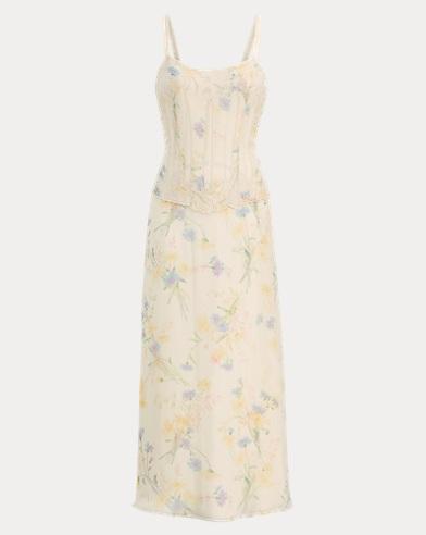Natasha Wildflower Silk Dress