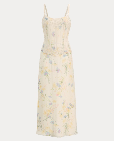 Natasha Wildflower Silk Dress