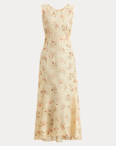 Melena Floral Wool-Silk Dress
