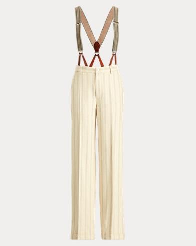 Chapman Stripe Silk-Linen Pant