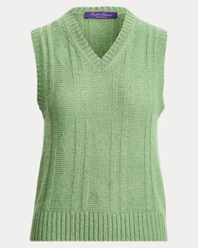Cashmere-Linen Sweater Vest