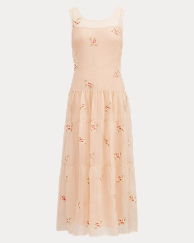 Trinity Embroidered Silk Dress