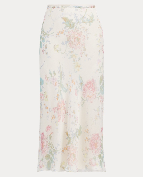 Alisha Floral Chiffon Skirt