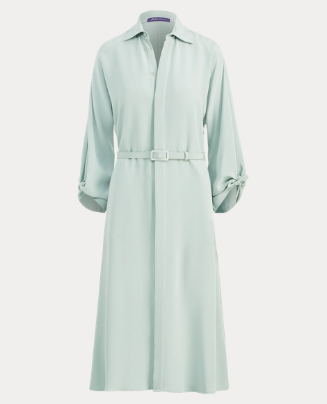Karen Silk Crepe Shirtdress