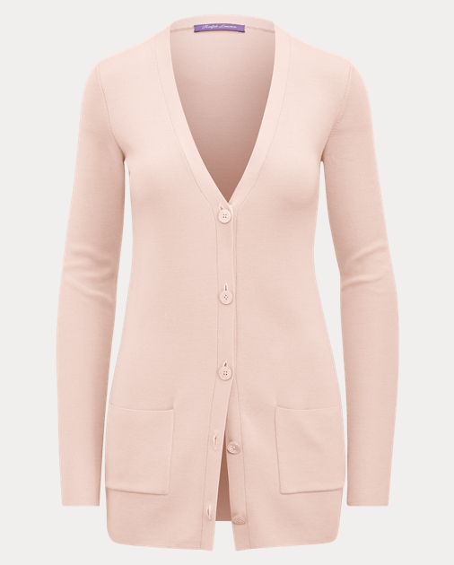 Merino Silk V Neck Cardigan by Ralph Lauren