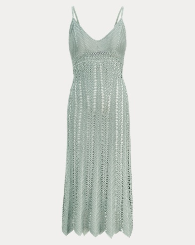 Crocheted Silk Slip Dress